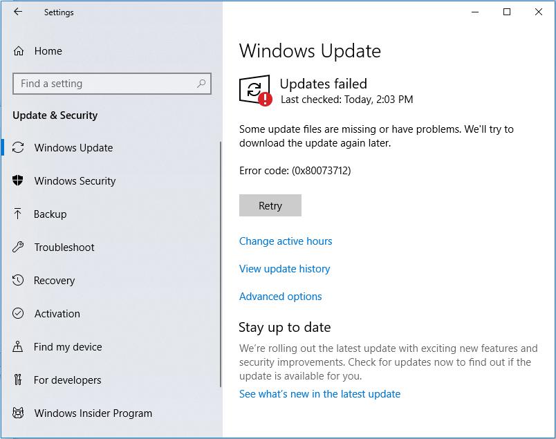 Windows Update does not install the 2018-11 Cumulative