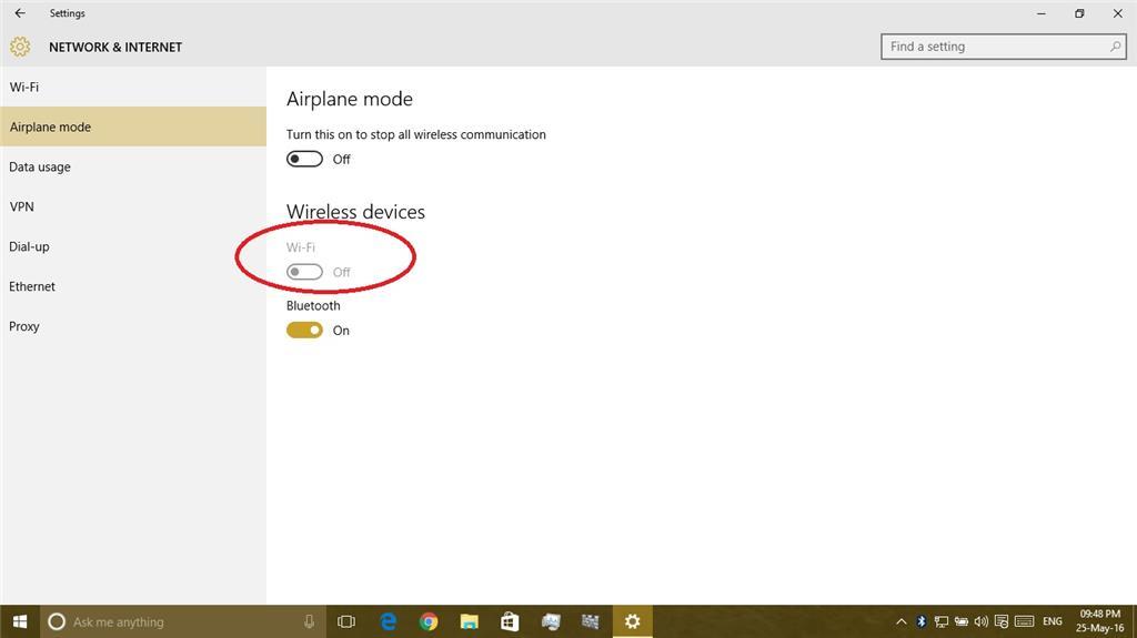 Turn On My Wi Fi >> Unable To Turn On Wifi On Windows 10 Build 10586 318 Microsoft
