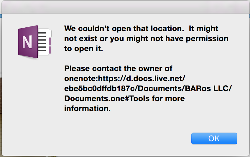 open shared onenote on mac