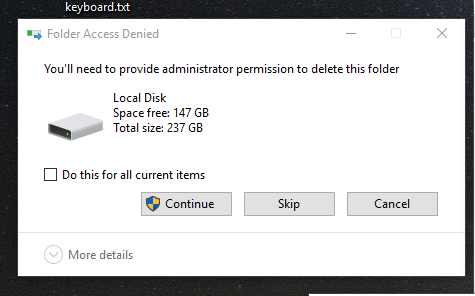 Windows 10 startup 'Folder Access Denied' - Microsoft Community