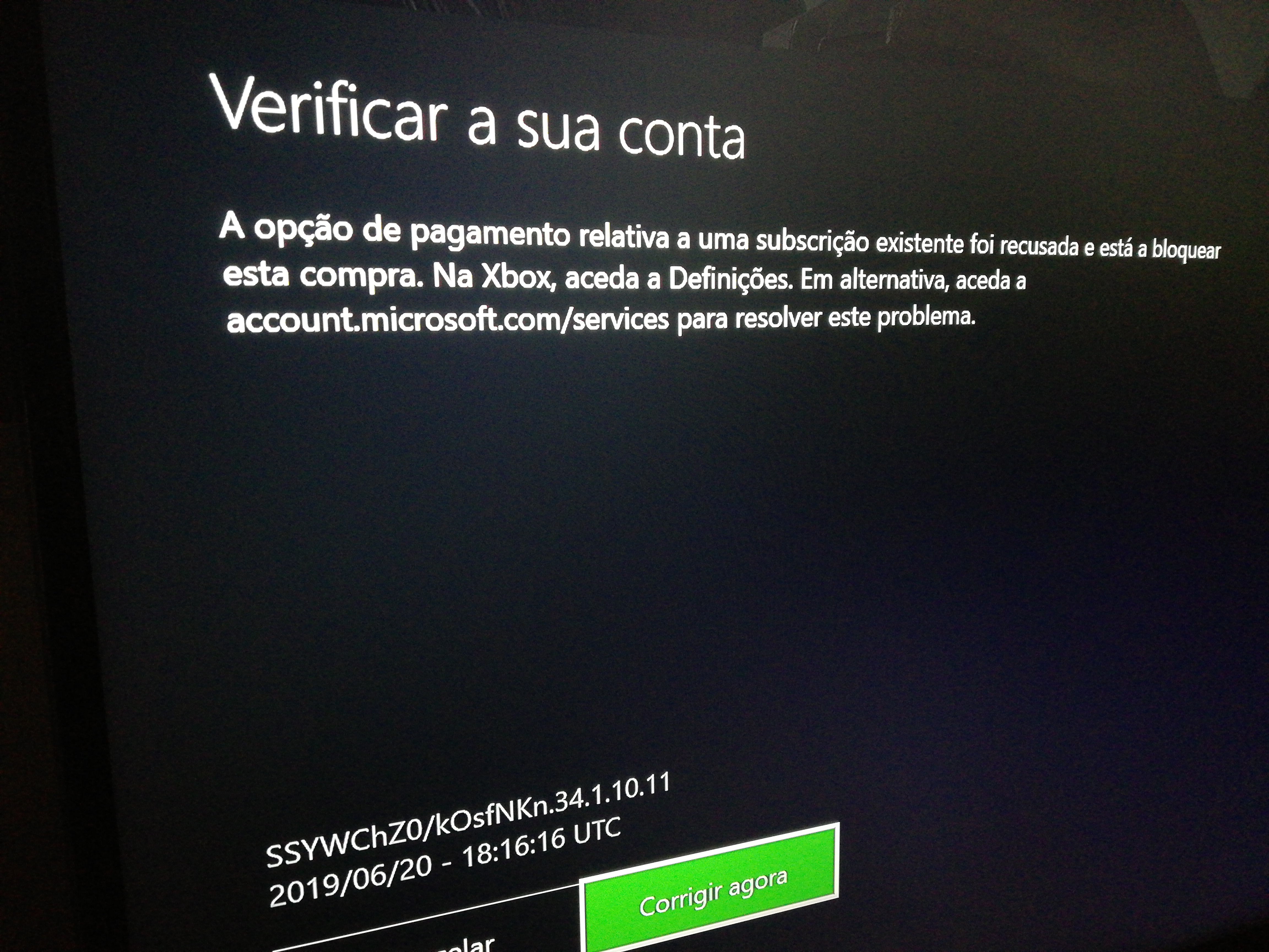 Falha pagamento xbox game pass ultimate [Translate] Failed payment Xbox Game Pass Ultimate` [​IMG]
