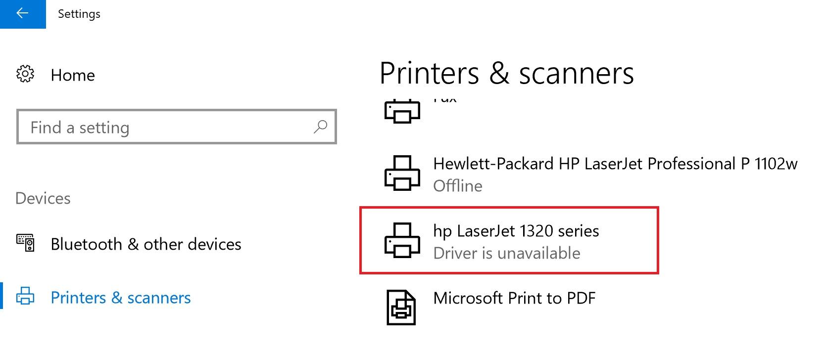 microsoft driver update for hp laserjet 1320 pcl 5 error rh answers microsoft com hp 1320 manual feed press enter HP 1320 Printer Warning Lights