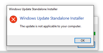 Windows Media Feature Pack installation fails 1803 (17134 112