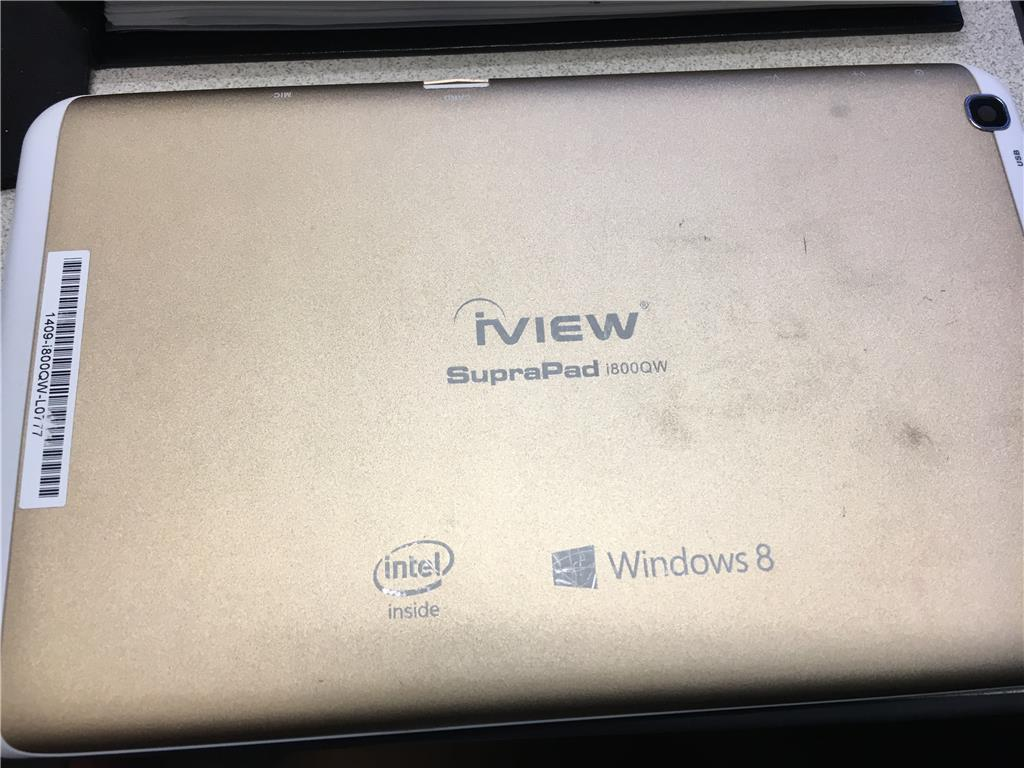 Windows tablet iView i800QW frozen/not responding to touch