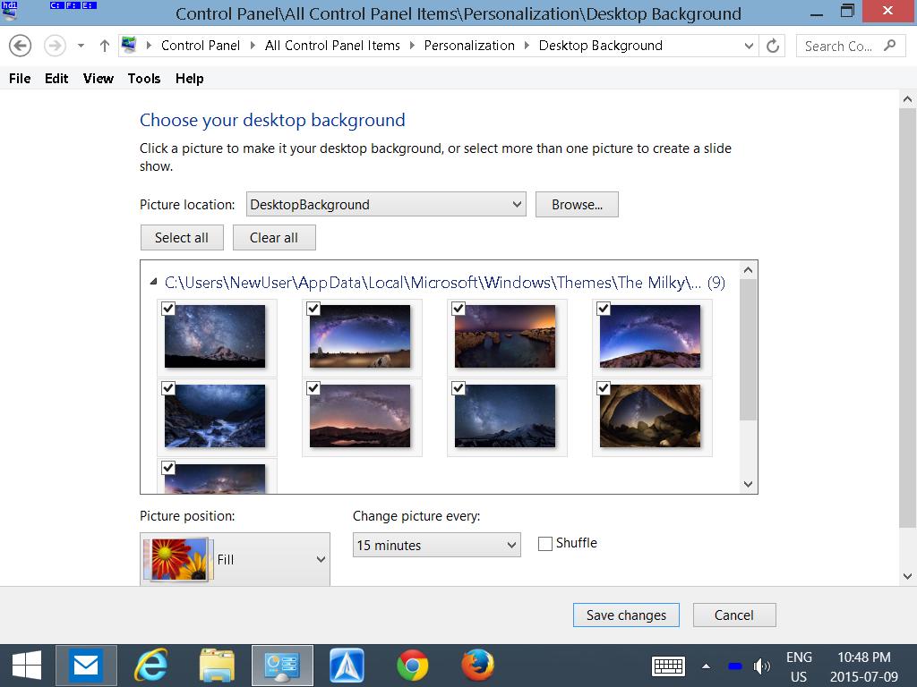 Windows 10 random Picture Diashow Wallpaper - Microsoft