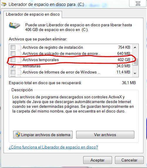 Windows 7 Mucho Espacio Para Liberar En Disco Microsoft Community