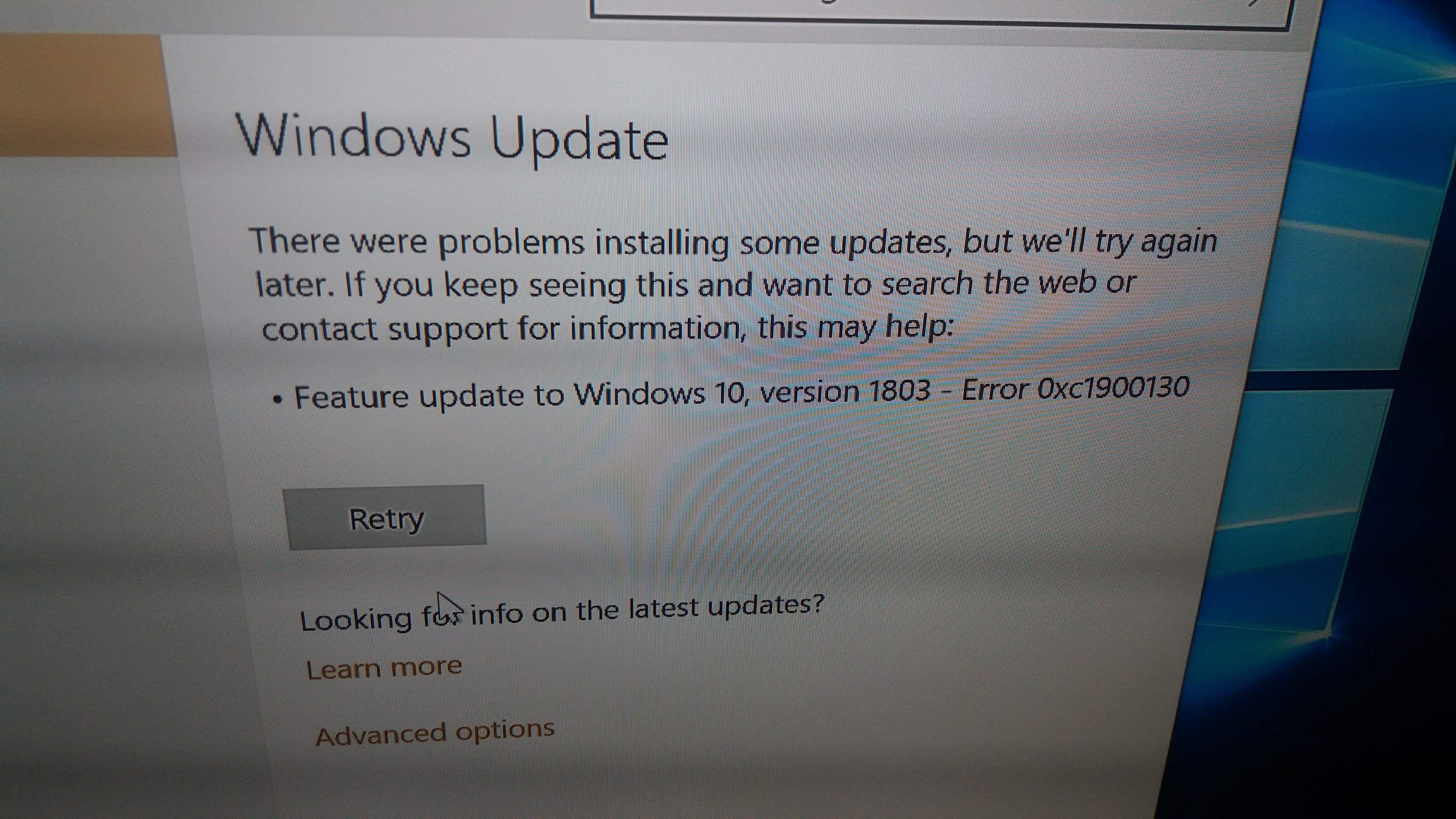 win 10 - 1803 update - wireless sdio driver not compatible - error