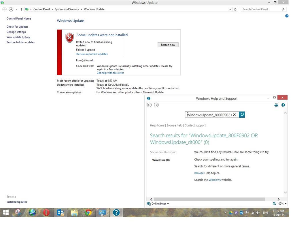 Windows 8 1 Update Fail With Error 800f0902