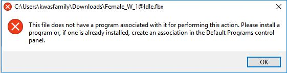 This file does not have a program associated with it for - Microsoft