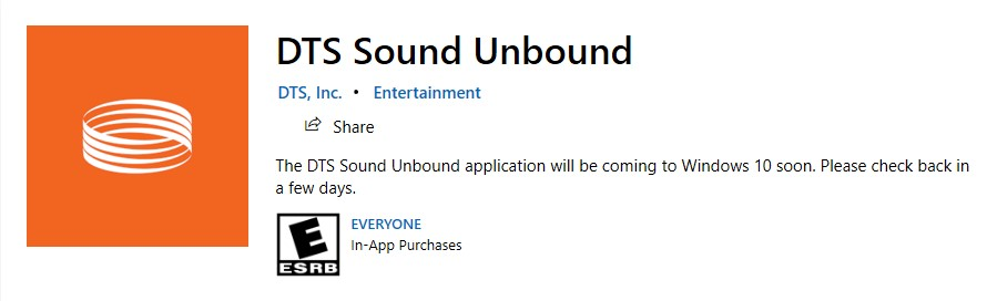 DTS Sound Unbound coming soon in Windows Store - Microsoft