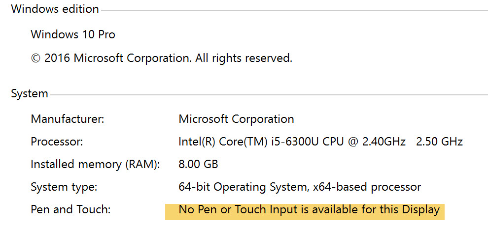 Pen and Windows Ink Setting Missing Surface Book - Microsoft Community