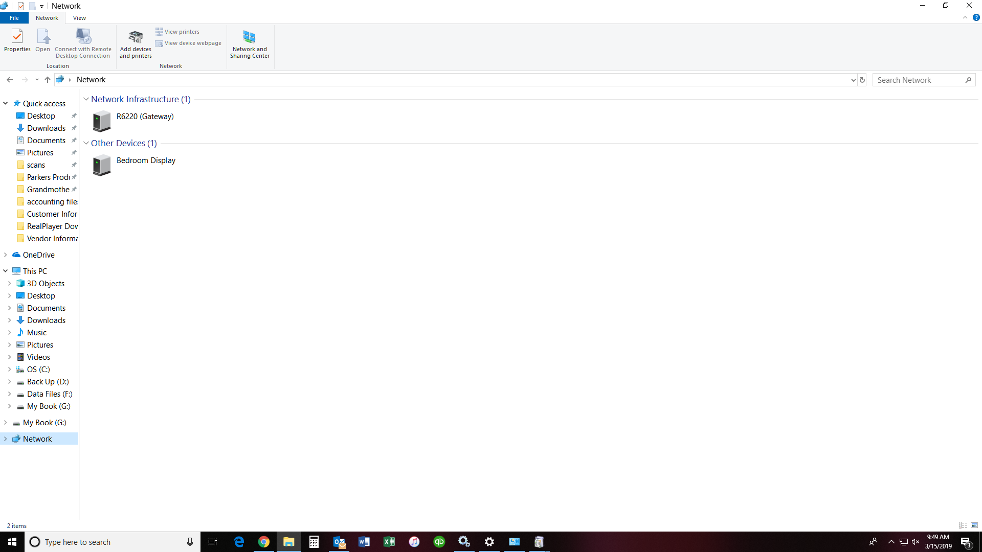 Devices do not show up in Network - Windows Overflow