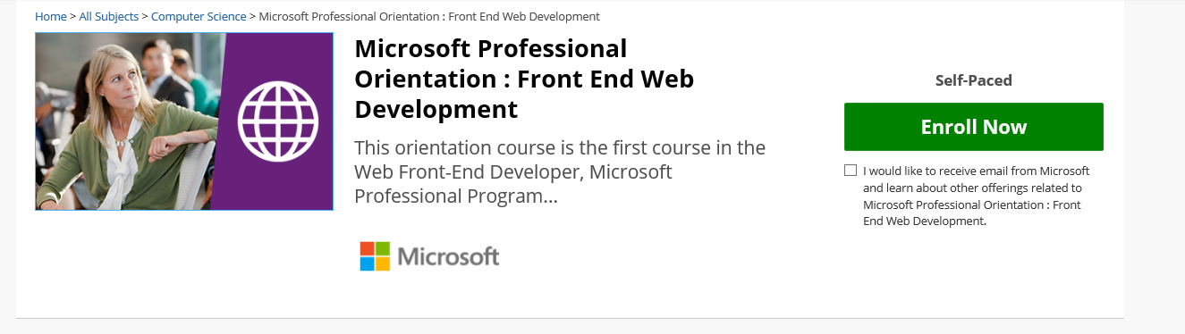 Front End Web Development Track Training Certification And