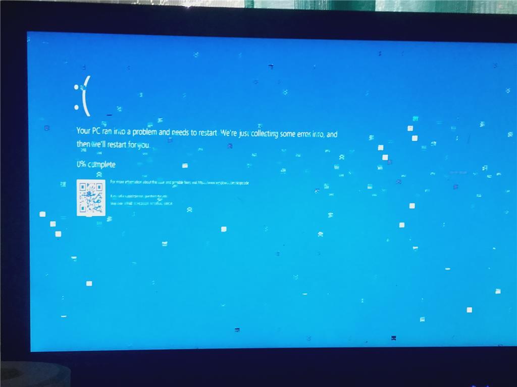 windows 10 keeps getting a pixelated bsod blue screen of