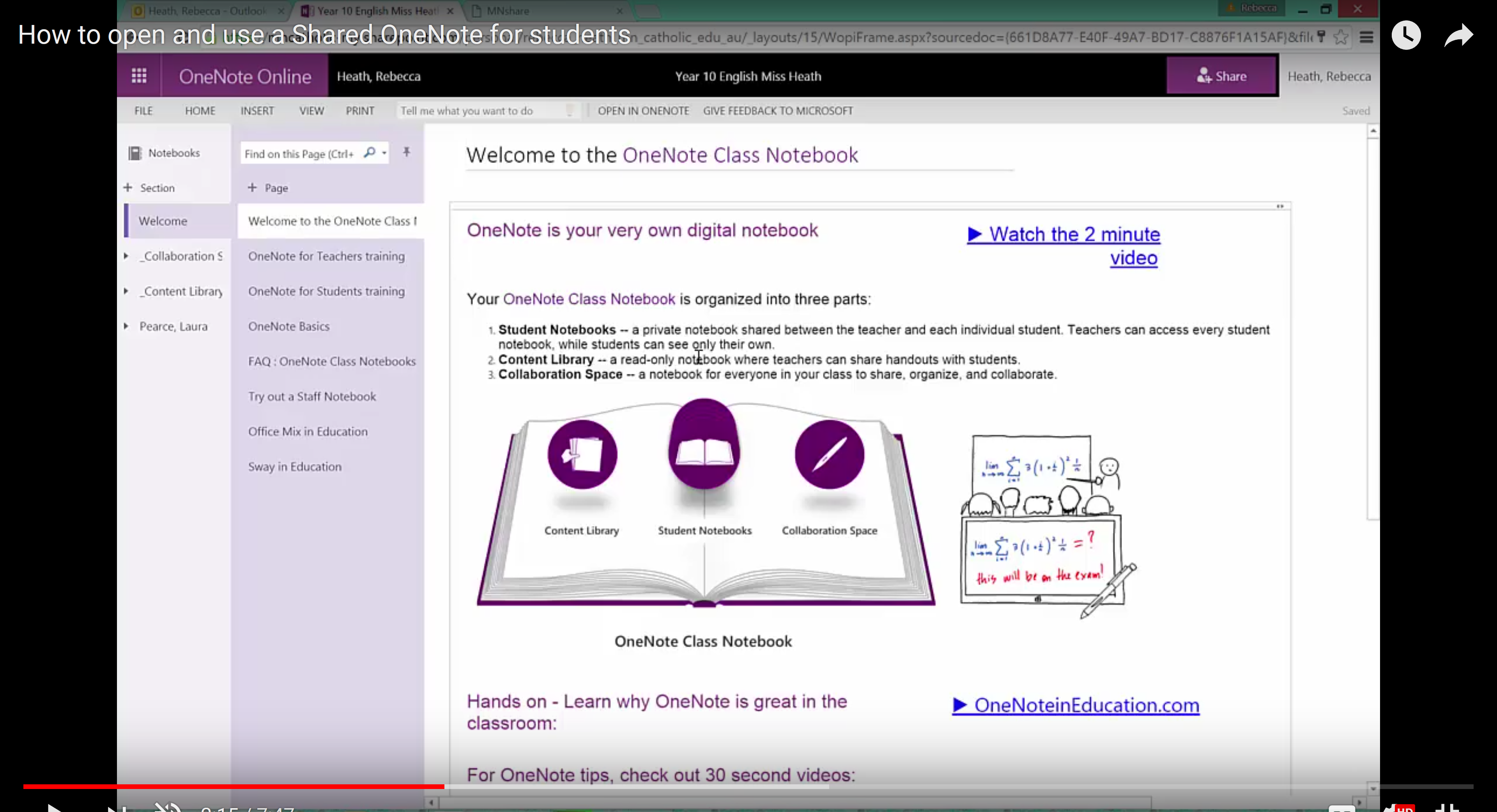 How to access a shared OneNote Notebook from the desktop app and not