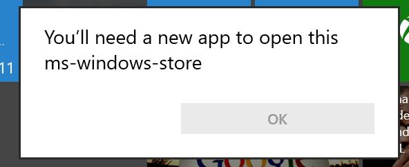 windows 10 store get not working