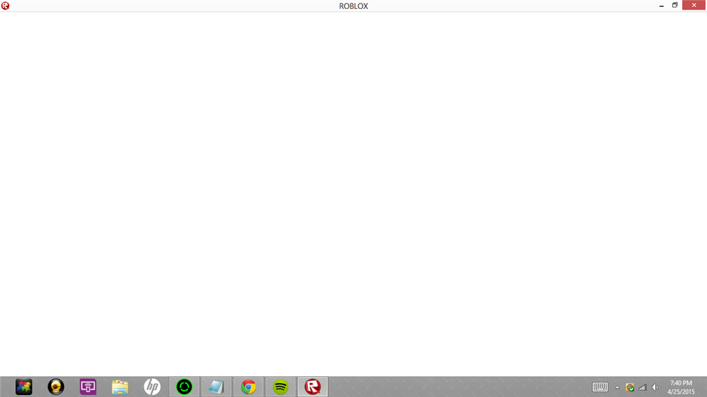 Whenever I Enter A Game In Roblox The Screen Becomes Blank Microsoft Community