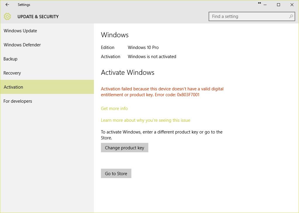Windows 10 activation error microsoft community image ccuart Gallery