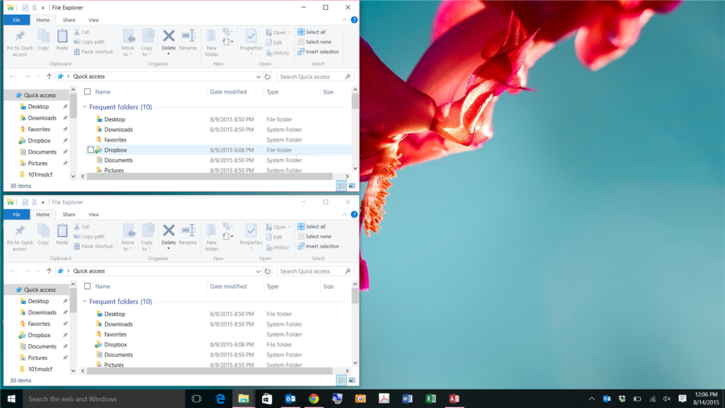 Show windows side by side does not work - Microsoft Community