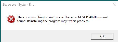 msvcp140d.dll missing fix