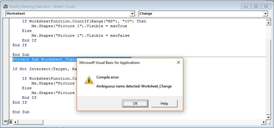 Compile error ambiguous name detected vba excel microsoft community image ibookread