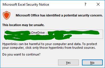 Onedrive Excel Links Not Working