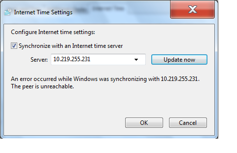 Sync time from Windows Server 2003 hardware clock to Windows