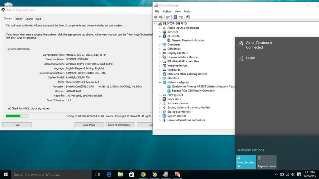 cannot install windows 10 on samsung rv511 laptop - Microsoft Community