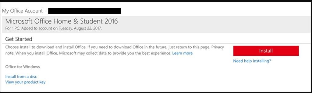 home and student 2016 office installer