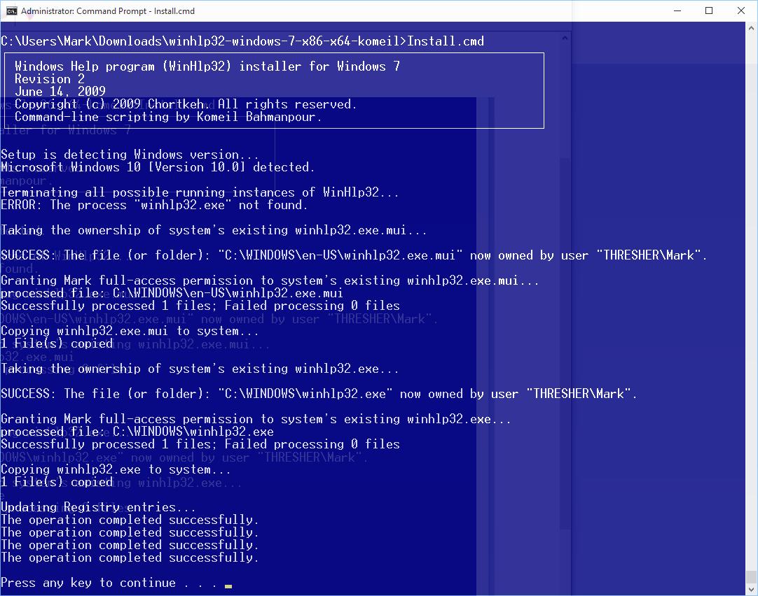 winhlp32.exe windows 7