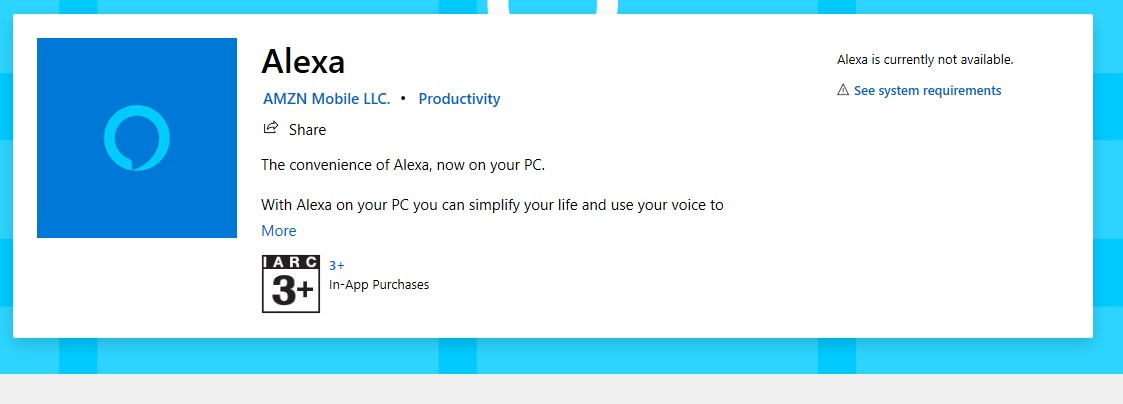 Alexa App For Windows 10 Where Is It Microsoft Community