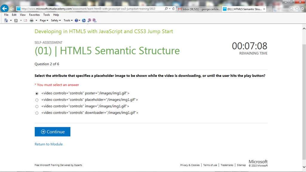 You Must Select An Answer For Html Training Certification And