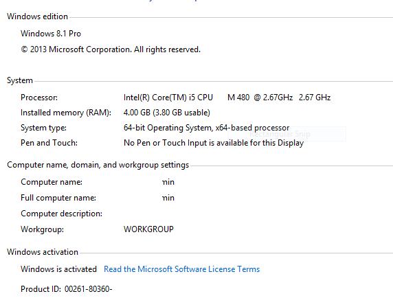 windows 8.1 setup key