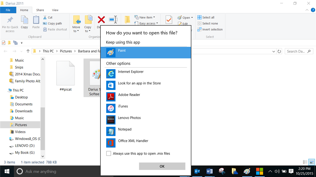 how to open mix files windows 10