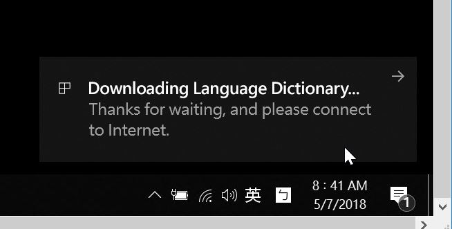 I can not switch the input language to Chinese after I