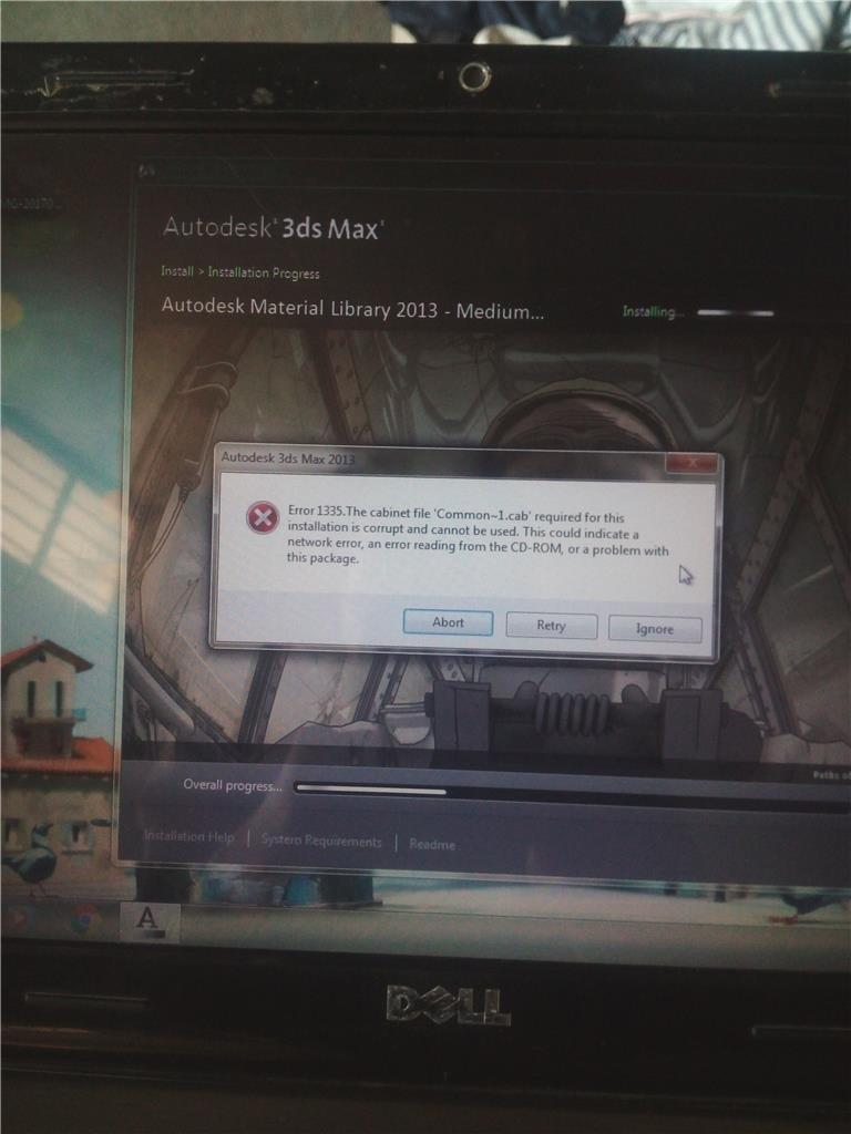 Windows installer error 1335  cabinet file / archive is