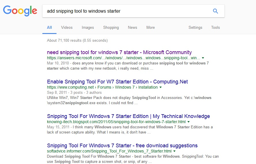 Free download snipping tool for windows 7 starter