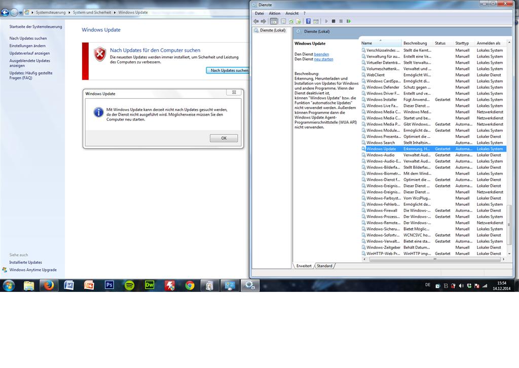 Windows 7 Update Funktioniert Nicht Dienst Wird Nicht Ausgeführt
