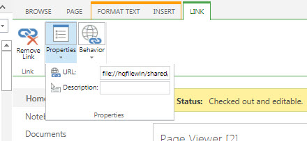 Sharepoint 365 linking to network location not working with