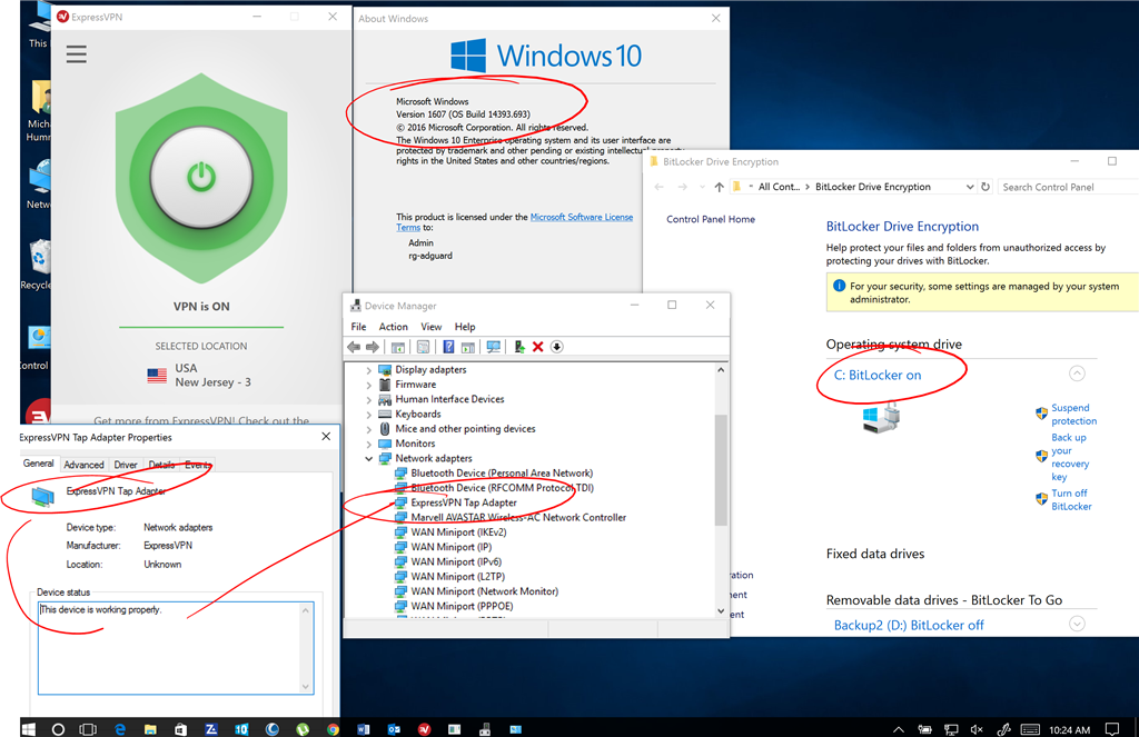 Unable to install TAP-windows driver on Windows 10 so i can use