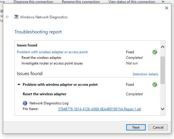 Constantly Resetting Wireless Adaptor Issue Windows 10 Microsoft Community