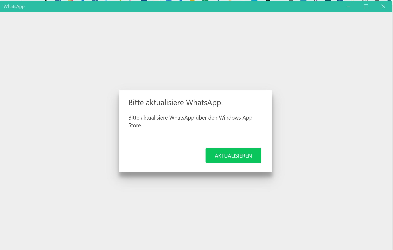 Whatsapp Desktop Startet Nicht Fordert Update Microsoft Community