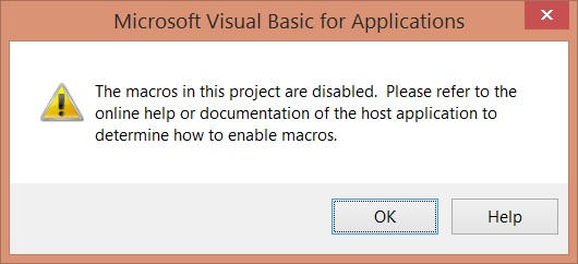 Outlook 2013 macros disabled problem - Microsoft Community