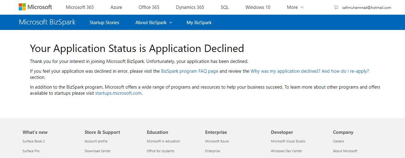 BizSpark Admin Email forgotten - Training, Certification, and ...