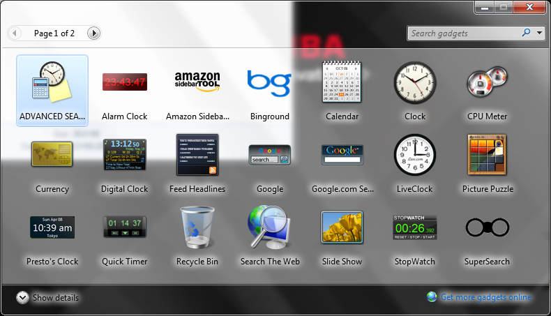 windows 7 gadgets gallery gone in windows 10 microsoft community