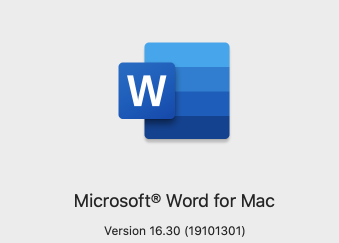 Microsoft word compatible with catalina