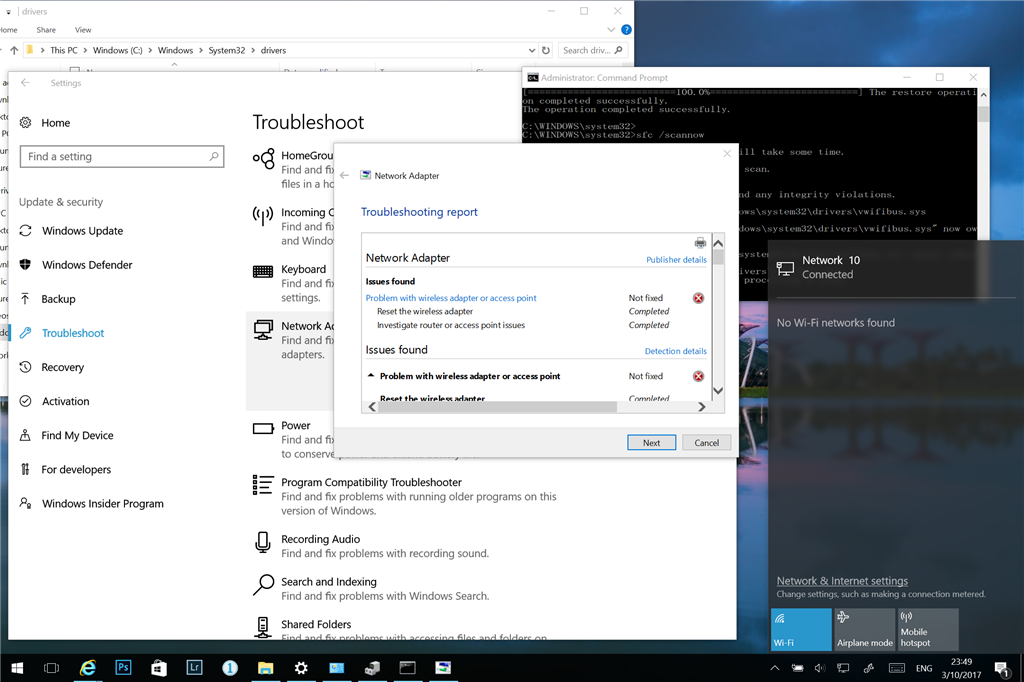 windows 10 connecting to wifi problems