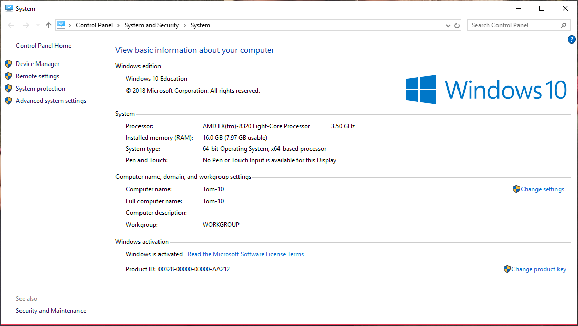 Half Of My Memory Is In My System Reserve Microsoft Community