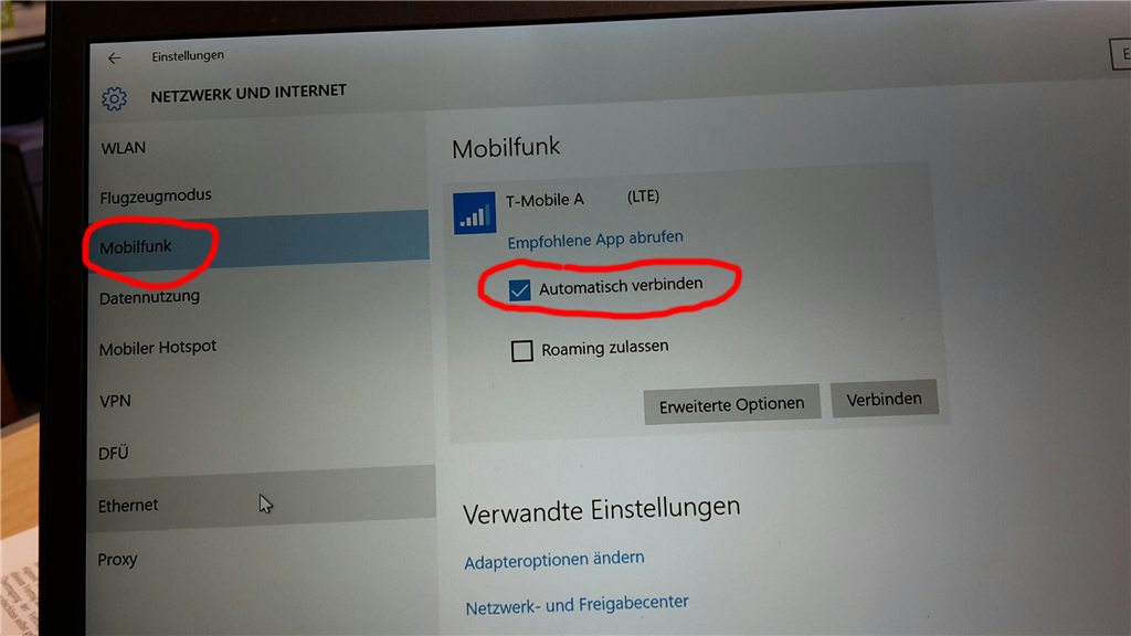 Windows 10 - WWAN Mobile Connection - How to disable Auto-Connect in