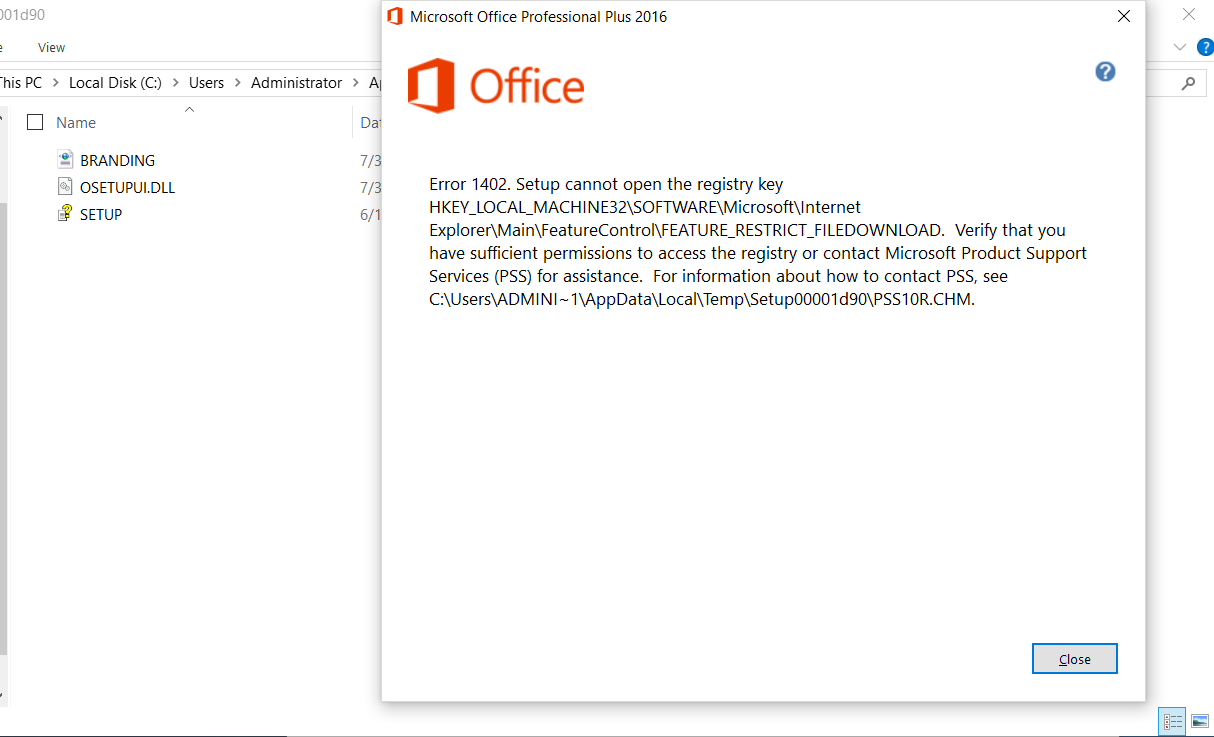 view office 2016 product key registry